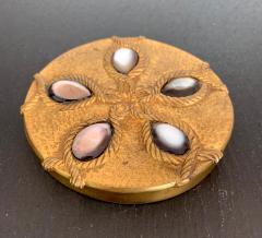 Line Vautrin A Bronze Compact Box by French Art Jeweler Line Vautrin - 945855