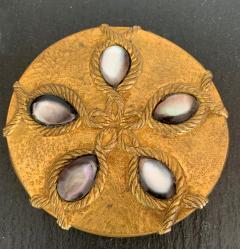 Line Vautrin A Bronze Compact Box by French Art Jeweler Line Vautrin - 945856