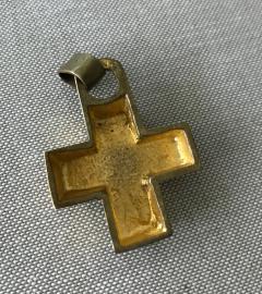 Line Vautrin A Gilt Bronze Cross Pendant by Line Vautrin - 833183