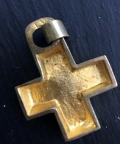 Line Vautrin A Gilt Bronze Cross Pendant by Line Vautrin - 833185