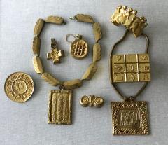 Line Vautrin A Gilt Bronze Cross Pendant by Line Vautrin - 833186