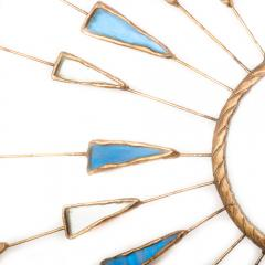 Line Vautrin A Line Vautrin Etincelles style mirror with blue and white colored glass - 2007418