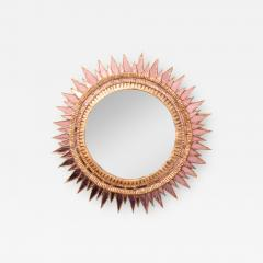 Line Vautrin A Line Vautrin style Soleil pointes giltwood and pink mirrored glass - 2009833