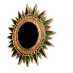 Line Vautrin A Line Vautrin style green Soleil Pointes convex mirror - 2007437