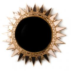 Line Vautrin A champagne colored starburst mirror in the manner of Line Vautrin - 2007393