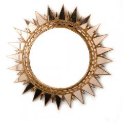 Line Vautrin A champagne colored starburst mirror in the manner of Line Vautrin - 2007395
