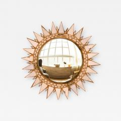 Line Vautrin A champagne colored starburst mirror in the manner of Line Vautrin - 2009822