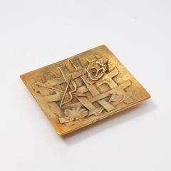 Line Vautrin A gilded bronze pocket emptier Holopherne  - 1222224