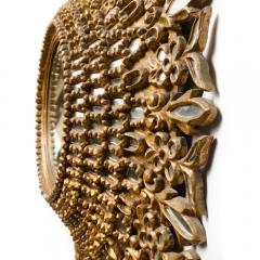 Line Vautrin A large round segmented and carved giltwood mirror in the manner of Line Vautrin - 2007456