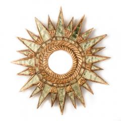 Line Vautrin A pair of small silver leaf starburst mirrors in the manner of Line Vautrin - 2007406