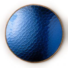 Line Vautrin A sunflower form blue convex mirror in the manner of Line Vautrin - 2007505