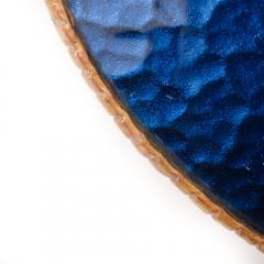 Line Vautrin A sunflower form blue convex mirror in the manner of Line Vautrin - 2007506