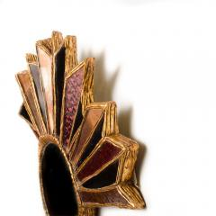 Line Vautrin An asymmetrical multicolored glass mirror in the manner of Line Vautrin - 2007513