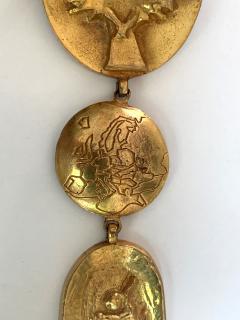 Line Vautrin Articulate Bronze Brooch Pergatoire by Line Vautrin - 955541