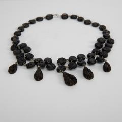 Line Vautrin Black Talosel necklace incrusted with ocean blue mirrors Line Vautrin France  - 1615856