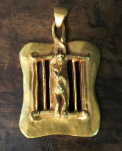 Line Vautrin Bronze Necklace Pendant Saint Laurent Line Vautrin - 1079397