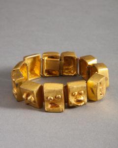 Line Vautrin Ebony cuff and bracelet - 1420753