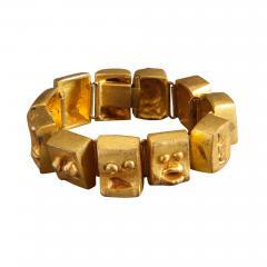 Line Vautrin Ebony cuff and bracelet - 1421102
