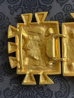 Line Vautrin French Bronze Belt Buckle Line Vautrin - 2071625