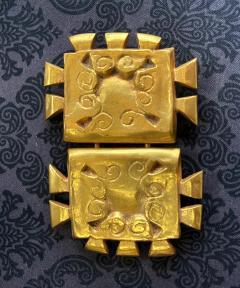 Line Vautrin French Bronze Belt Buckle Line Vautrin - 2071627