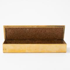 Line Vautrin French Line Vautrin Cest La Vie Gilded Bronze Box - 1234590