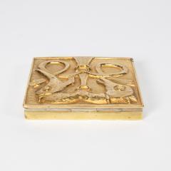 Line Vautrin French Line Vautrin Gilded Bronze Pocket Emptier Le loup et le Renard  - 1508742