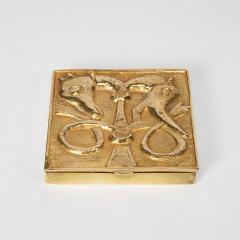 Line Vautrin French Line Vautrin Gilded Bronze Pocket Emptier Le loup et le Renard  - 1508744
