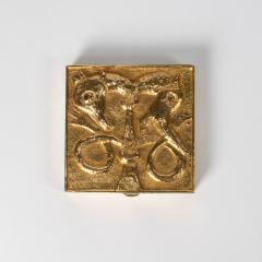 Line Vautrin French Line Vautrin Gilded Bronze Pocket Emptier Le loup et le Renard  - 1508745