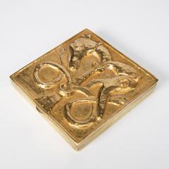 Line Vautrin French Line Vautrin Gilded Bronze Pocket Emptier Le loup et le Renard  - 1508747