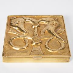 Line Vautrin French Line Vautrin Gilded Bronze Pocket Emptier Le loup et le Renard  - 1508748