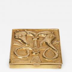 Line Vautrin French Line Vautrin Gilded Bronze Pocket Emptier Le loup et le Renard  - 1509720