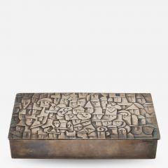 Line Vautrin French Line Vautrin Heureux Parmi La Foule Silvered Bronze Box - 1234763