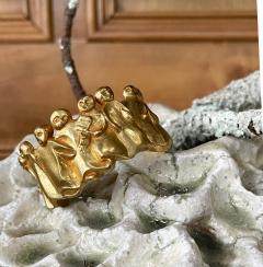 Line Vautrin French Sculptural Bronze Bracelet La Manif by Line Vautrin - 2114584