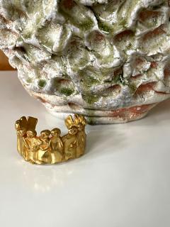 Line Vautrin French Sculptural Bronze Bracelet La Manif by Line Vautrin - 2114586