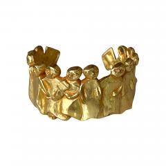 Line Vautrin French Sculptural Bronze Bracelet La Manif by Line Vautrin - 2116417