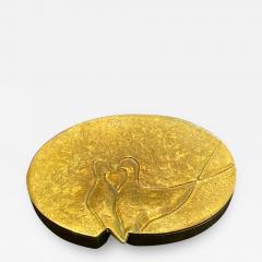 Line Vautrin French Sculptured Gilt Bronze Box Line Vautrin - 1898897