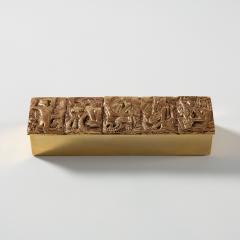 Line Vautrin Gilded bronze box Neptune  - 1690882