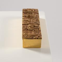 Line Vautrin Gilded bronze box Neptune  - 1690883