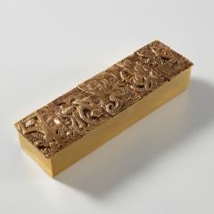 Line Vautrin Gilded bronze box Neptune  - 1690884