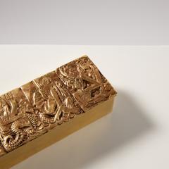 Line Vautrin Gilded bronze box Neptune  - 1690885