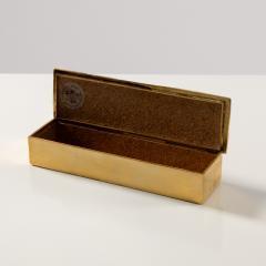 Line Vautrin Gilded bronze box Neptune  - 1690889