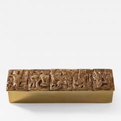 Line Vautrin Gilded bronze box Neptune  - 1693565