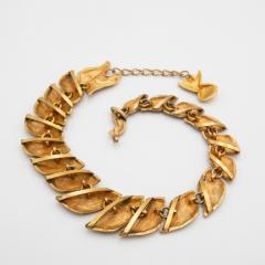 Line Vautrin Gilded bronze necklace with enamel decoration La femme au dragon Line Vautrin - 1628955
