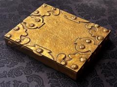 Line Vautrin Large French Sculpted Bronze Box by Line Vautrin - 1896094