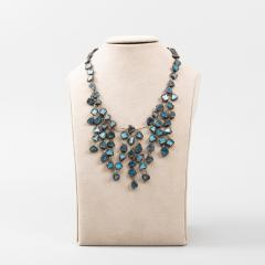 Line Vautrin Line Vautrin Fr A Farah talosel and incrusted blue mirrors large necklace - 1065015