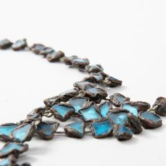 Line Vautrin Line Vautrin Fr A Farah talosel and incrusted blue mirrors large necklace - 1065017
