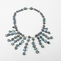 Line Vautrin Line Vautrin Fr A Farah talosel and incrusted blue mirrors large necklace - 1065018