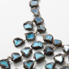 Line Vautrin Line Vautrin Fr A Farah talosel and incrusted blue mirrors large necklace - 1065019