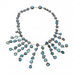 Line Vautrin Line Vautrin Fr A Farah talosel and incrusted blue mirrors large necklace - 1065937