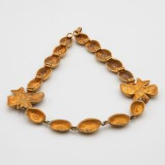 Line Vautrin Line Vautrin France Flowers and Coffee Beans Necklace Gilded Bronze - 1016204